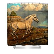 Stallion's Overlook Shower Curtain