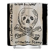Stamp Act: Cartoon, 1765 Shower Curtain by Granger