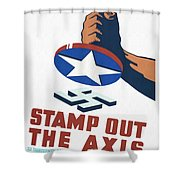 Stamp Out The Axis - Restored Shower Curtain