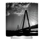Stan Musial Bridge St Louis Mo Black And White_dsc4591_16_65 Shower Curtain