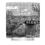 Stand By Me - Paint Bw Shower Curtain
