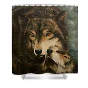 Stand By Me - Wolves Shower Curtain