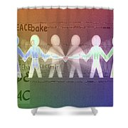 Stand Together In Peace Shower Curtain