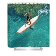 Stand Up Paddling II Shower Curtain
