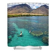 Stand Up Paddling Shower Curtain