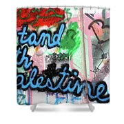 Stand With Palestine Shower Curtain