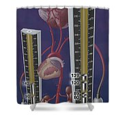 Standards For Hypertension, Illustration Shower Curtain