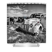 Standing Against Time Shower Curtain