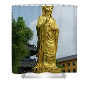 Standing Budda At Mi Tuo Shi Shower Curtain