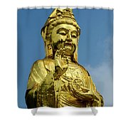 Standing Budda Shower Curtain