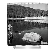 Standing In Comanche Reservoir Shower Curtain