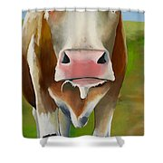 Standing In Field Shower Curtain