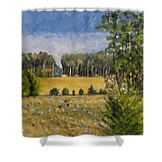 Standing In Howards Farm Shower Curtain