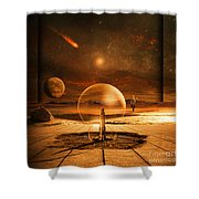 Standing In Time Shower Curtain