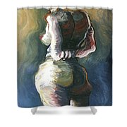 Standing Nude I Shower Curtain