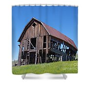 Standing Old Wooden Barn  Shower Curtain