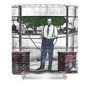 Standing On A Corner In Asheville Carolina Shower Curtain