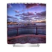 Standing On The Bridge Shower Curtain
