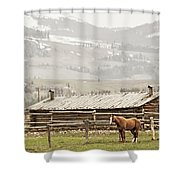 Standing Strong Shower Curtain