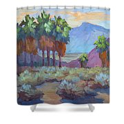 Standing Tall At Thousand Palms Shower Curtain