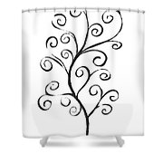 Standing Tall - Inverted  Shower Curtain