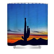 The Saguaro King Shower Curtain