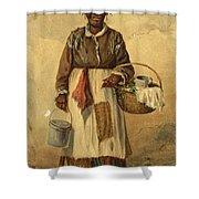 Standing Woman Shower Curtain