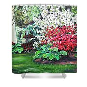 Stanely Park Blossoms Shower Curtain