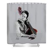 Stanley Clarke Shower Curtain by Melanie D