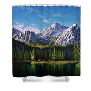 Stanley Lake Reflections Shower Curtain
