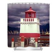 Stanley Park Lighthouse Shower Curtain
