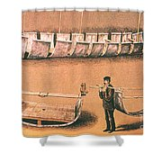 Stanleys Portable Boat Shower Curtain