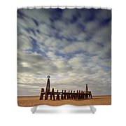 St.annes Beach, Lancashire, England Shower Curtain