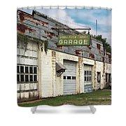 Stans Motor Service Garage Shower Curtain