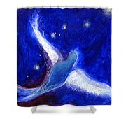 Star Bird Shower Curtain