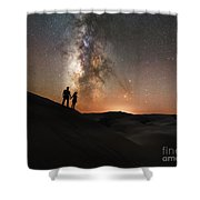 Star Crossed Lovers At Night Shower Curtain