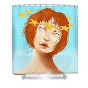 Star Eyed Shower Curtain