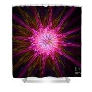 Star Flower Shower Curtain
