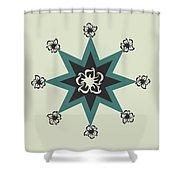 Star Flower - The Light Side Shower Curtain