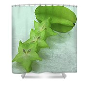 Star Fruit Is Content Of Vitamin A And C Shower Curtain