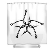 Star Hooks Shower Curtain