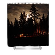 Star Lit Camp Shower Curtain
