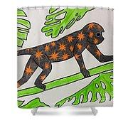 Star. Monkey  Shower Curtain