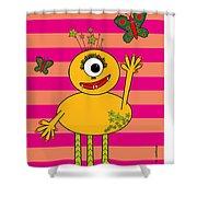 Star Monster Shower Curtain