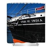 Star Of India Tall Ship San Diego Bay Shower Curtain