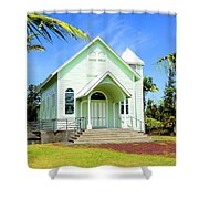 Star Of The Sea Painted Church Shower Curtain
