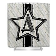 Star Of The Show Art Deco Monogram Shower Curtain