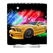 Star Of The Show - Mustang Gtr Shower Curtain
