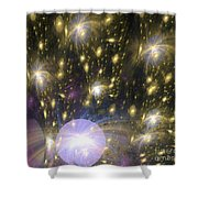 Star Particles Shower Curtain