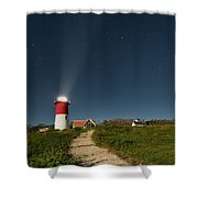 Star Search Square Shower Curtain